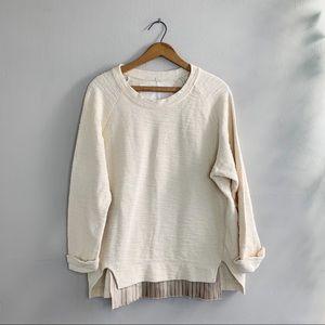 Anthropology Undiscovered Eye Cream Sweater Sz XS